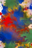 Colored paint mixed on paper Royalty Free Stock Photography