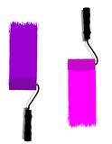 Colored paint roller Royalty Free Stock Photos