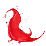 Colored paint splash Stock Photography