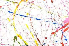 Colored paint splash stock images