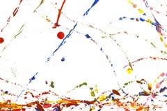 Colored paint splash stock image