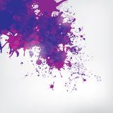 Colored paint splashes  on abstract background Royalty Free Stock Image