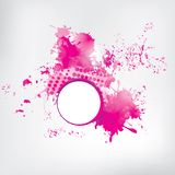 Colored paint splashes  on abstract background Stock Photography