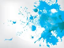Colored paint splashes  on abstract background Stock Image