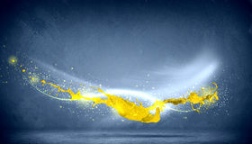 Colored splashes Stock Images