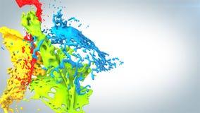 Colored paint splashes Stock Image