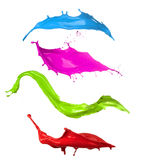 Colored paint splashes collection Royalty Free Stock Photo