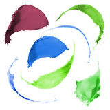 Colored paint splashes Stock Photography