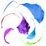Colored paint splashes. Collection of colored paint splashes on white background Royalty Free Stock Image