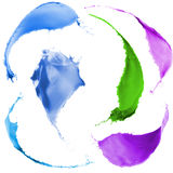 Colored paint splashes Royalty Free Stock Photography
