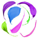 Colored paint splashes. Collection of colored paint splashes on white background Royalty Free Stock Images