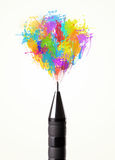 Colored paint splashes Royalty Free Stock Images