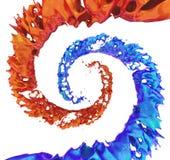Colored paint splashes isolated on white background Royalty Free Stock Photos