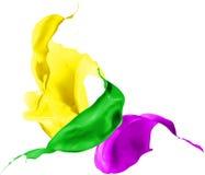 Colored paint splashes isolated on white background Royalty Free Stock Image