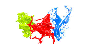 Colored paint splashes Stock Photo