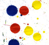 Colored paint splatters Royalty Free Stock Photography