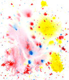 Colored paint splatters Royalty Free Stock Image