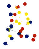 Colored paint splatters Royalty Free Stock Images