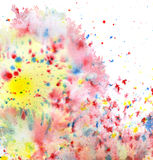 Colored paint splatters Stock Image