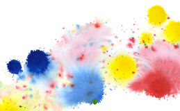 Colored paint splatters Stock Images