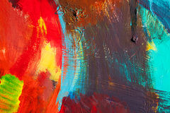 Colored paint strokes. Abstract art background. Detail of a work of art. Contemporary Art. Colorful texture. thick paint stock photography