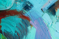 Colored paint strokes. Abstract art background. Detail of a work of art. Contemporary Art. Colorful texture. thick paint royalty free stock photos