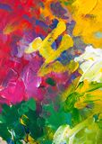 Colored paint strokes. Contemporary Art. Colorful texture. thick paint. Creativity, goua royalty free stock images