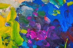 Colored paint strokes. Contemporary Art. Colorful texture. thick paint. Creativity, gouache stock photography