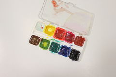 Colored paint watercolor Stock Photography