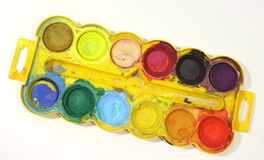 Colored paint watercolor Royalty Free Stock Photography