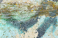 Colored painted cracks plaster texture Stock Image