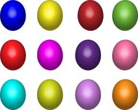 Colored painted eggs royalty free illustration