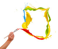 Colored painting Stock Photos