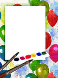 Colored painting vector illustration