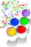 Colored paints Royalty Free Stock Image