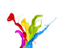 Colored paints Royalty Free Stock Photos