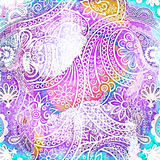 Colored paisley background Stock Photos