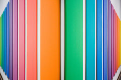 Colored panels. A series of colored panels stretching into the distance stock photos