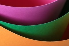 Colored paper. Pastel colored paper close-up Royalty Free Stock Photos