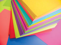 Colored Paper. Photo of a stack of colored paper Stock Photos
