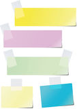 Colored paper. A set of colored paper glued to the recording tape Royalty Free Illustration