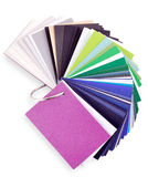 Colored paper. Layout of colored paper on a white background Stock Photography