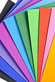 Colored paper. Stock Images