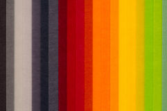 Colored paper. Closeup of colored paper stack Stock Image