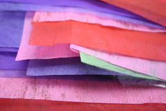 Colored Paper. A stack of colored paper Stock Photography
