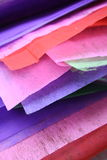 Colored Paper. A stack of colored paper Stock Photos
