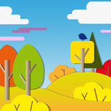 Colored paper abstract outdoors background stock illustration