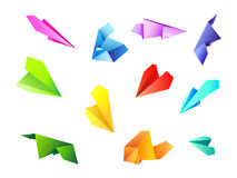 Colored paper airplanes1 vector illustration