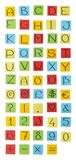 Colored paper alphabet. Stock Photo