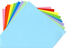 Colored paper. Arranged in a fan Royalty Free Stock Photography